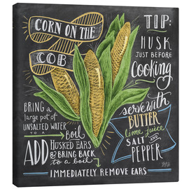 Canvas print  Corn on the cob - Lily & Val