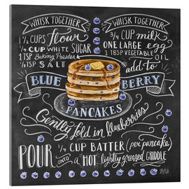 Acrylic glass  Blueberry pancakes recipe - Lily & Val