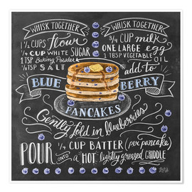 Premium poster  Blueberry pancakes recipe - Lily & Val