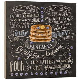 Wood  Blueberry pancakes recipe - Lily & Val
