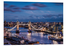 Foam board print  Tower Bridge London Thames - Sören Bartosch