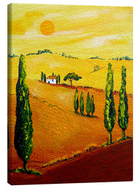Canvas  Tuscany landscape 3 - Christine Huwer