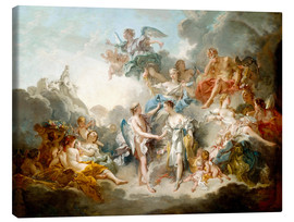 Canvas print  Cupid and Psyche celebrate wedding - François Boucher
