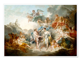 Premium poster  Cupid and Psyche celebrate wedding - François Boucher