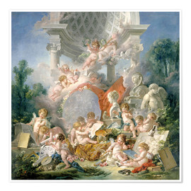 Premium poster  Geniuses of the arts - François Boucher