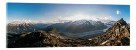 Acrylic print  360 degree panorama from Bettmerhorn with Aletsch Glacier, Valais, Switzer - Peter Wey