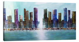 Theheartofart Gena - Blue Skyline City