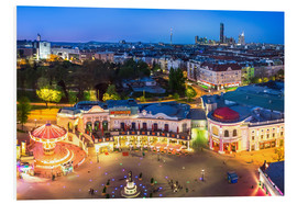 Foam board print  View from the Vienna Giant Ferris Wheel on the Prater - Benjamin Butschell