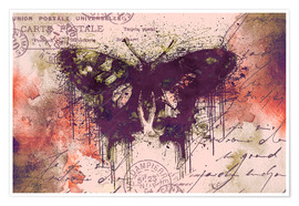 Premium poster  Crazy Butterfly - Andrea Haase