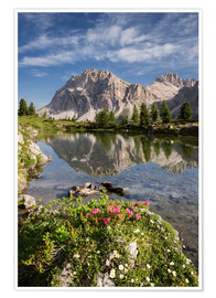 Poster Alps - Dolomites - Summer Lake