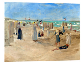 Acrylic print  On the beach in Noordwijk - Max Liebermann