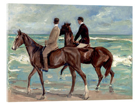 Acrylic print  Two riders on the beach - Max Liebermann