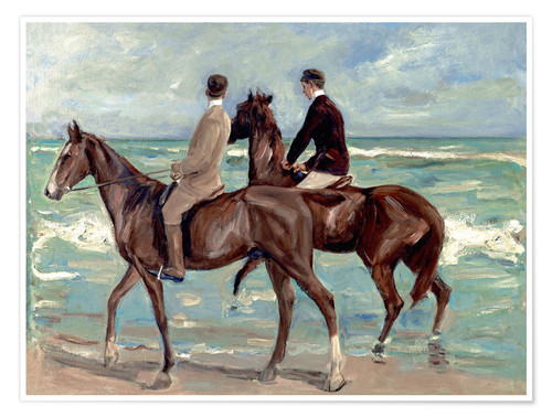 Premium poster Two riders on the beach