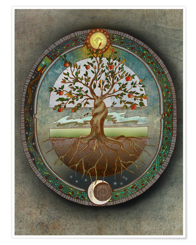 Poster Orobouros - Tree of Life