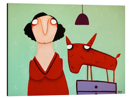 Aluminium print  Misses Stankowicz with her red attack dog - Theresa Franziska Jänisch