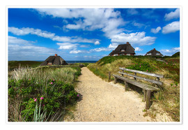 Premium poster Sylt dunes and sea