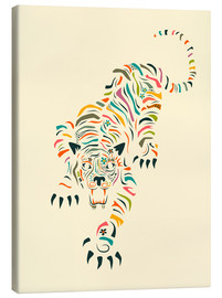 Canvas print  Tiger - Jazzberry Blue