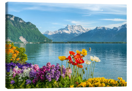 Canvas print  Lake Geneva in spring - Olaf Protze