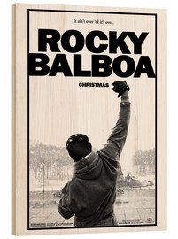 Wood print  Rocky Balboa - Entertainment Collection
