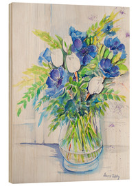 Wood print  Colorful bouquet - Maria Földy