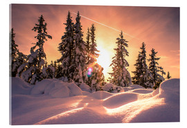 Acrylic print  Sunset in the Snow - Matthias Köstler