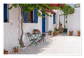 Premium poster Cycladic island of Paros - mountain village Lefkes
