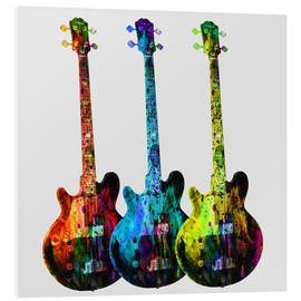 Foam board print  Guitars - Mark Ashkenazi