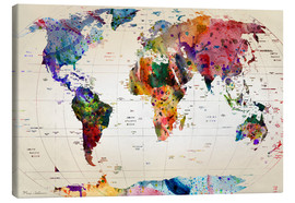 Canvas  Map of the world - Mark Ashkenazi