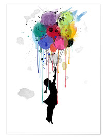 Premium poster  Drips balloon - Mark Ashkenazi