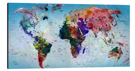 Aluminium print  Map of the world - Mark Ashkenazi