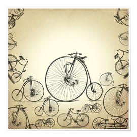 Premium poster Bicycles