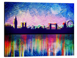 Aluminium print  London in blue - Mark Ashkenazi