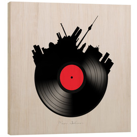 Wood print  Berlin record - Mark Ashkenazi