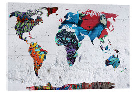 Acrylic glass  map graffiti - Mark Ashkenazi