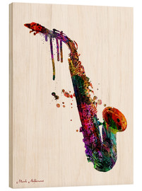 Wood print  Saxophone - Mark Ashkenazi