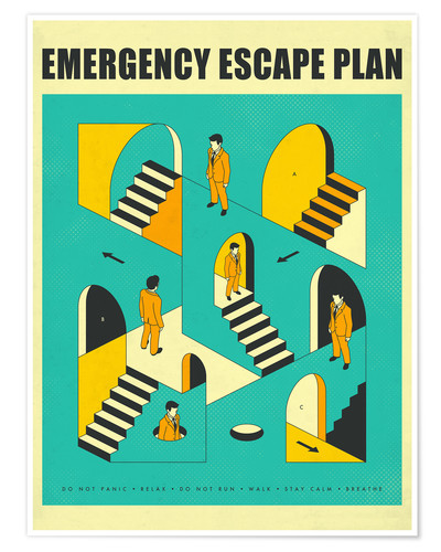 Premium poster Emergency Escape Plan 1