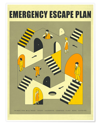 Premium poster Emergency Escape Plan 3