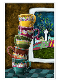 Premium poster  Happy Coffee Mug - Heike Langenkamp