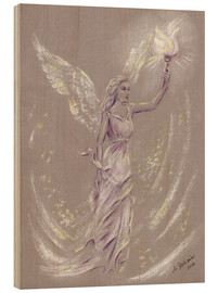 Wood print  Angel of Hope - Marita Zacharias