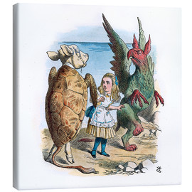 Canvas print  Gryphon and the Mock Turtle Alice dance - John Tenniel
