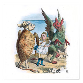 Premium poster Gryphon and the Mock Turtle Alice dance