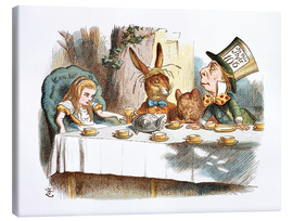 Canvas  Alice in Kaffeeklatsch - John Tenniel