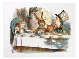 Foam board print  Alice in Wonderland - John Tenniel