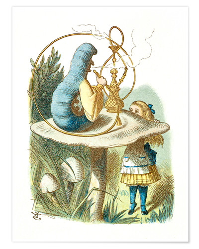 Premium poster Alice and the Caterpillar