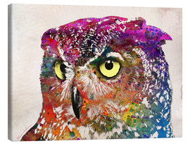 Canvas print  owl drowing - Mark Ashkenazi