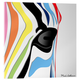 Acrylic glass  zebra - Mark Ashkenazi