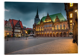 Acrylic glass  Bremen Market Square with City Hall - Rainer Ganske