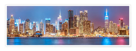 Premium poster  New York City Neon Colors Skyline - Sascha Kilmer