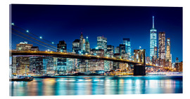 Acrylic glass  New York illuminated Skyline - Sascha Kilmer