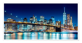 Premium poster  New York illuminated Skyline - Sascha Kilmer